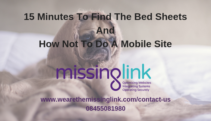 Mobile Friendly Website – A Story Of What Not To Do